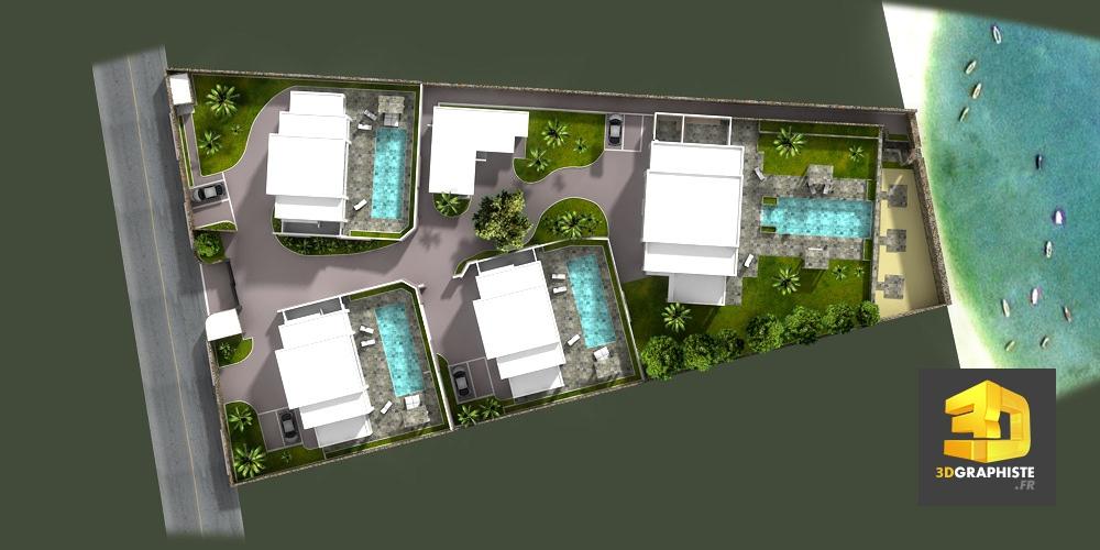 Plan de masse illustrations pour l 39 architecture et l for Plan pour villa