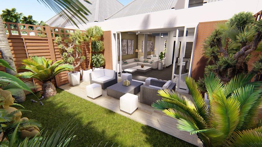 elegant beautiful perspective extrieure jardin d with logiciel d jardin with jardiflash. Black Bedroom Furniture Sets. Home Design Ideas