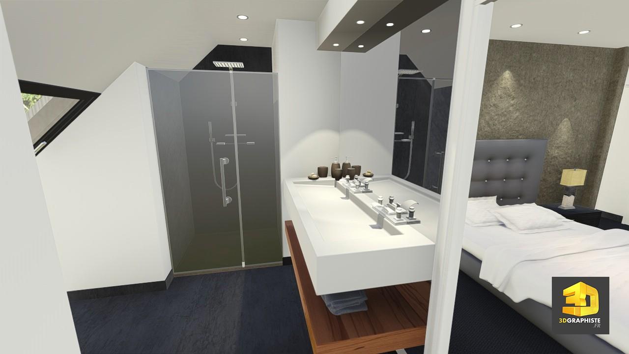perspectiviste 3d r sidence le rocher vert 3dgraphiste fr. Black Bedroom Furniture Sets. Home Design Ideas