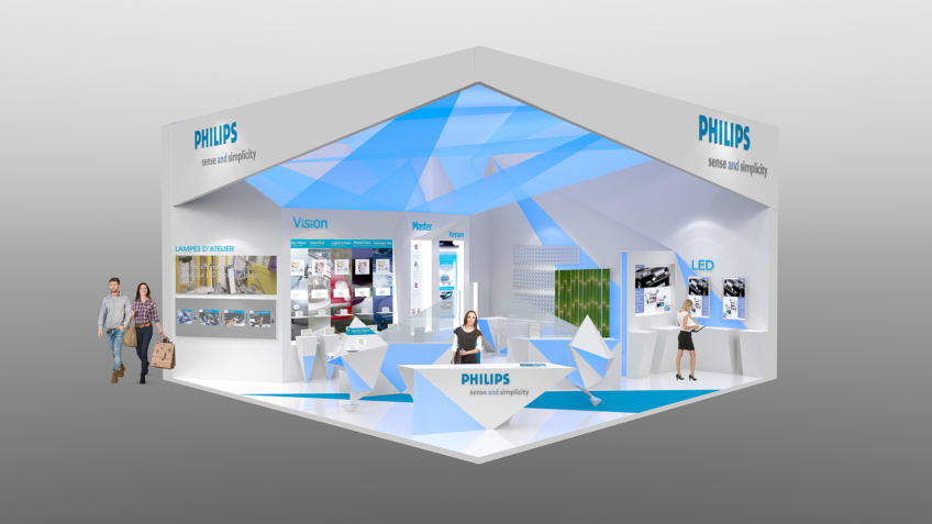 Concepteur de stands Philips - Solutrans 2013