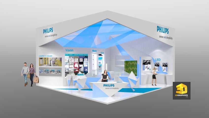 Concepteur de stands Philips - Solutrans 2013