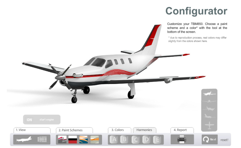 Configurateur Avion