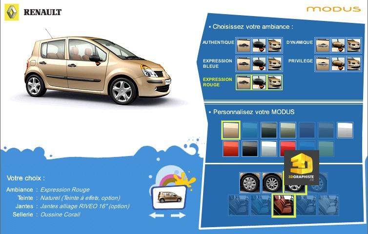 configurateur automobile renault modus