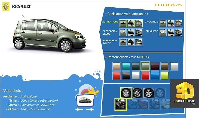 configurateur automobile vehicule renault modus