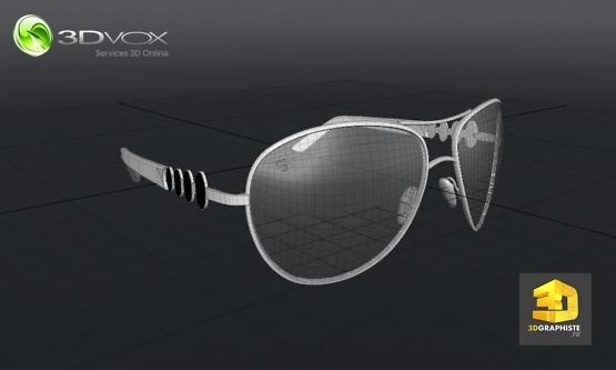 creation de lunettes en 3d