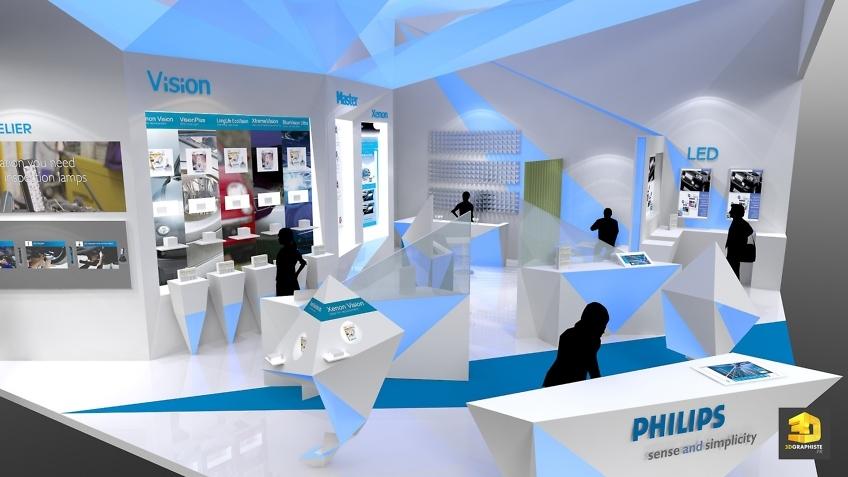 Designer de stands pour Philips - Solutrans 2013