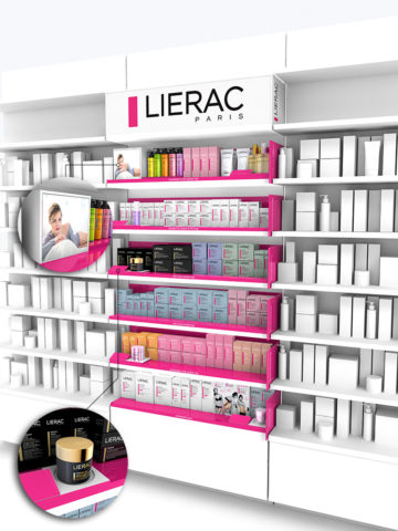 designer 3d presentoir lierac