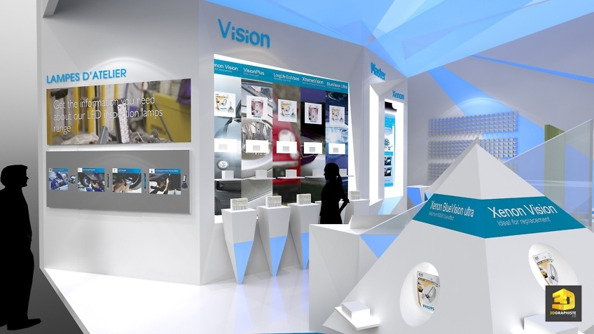 Graphiste 3D Stand Philips