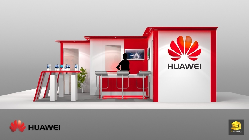 Graphiste Stand Huawei - Stand Exposition - Téléphonie