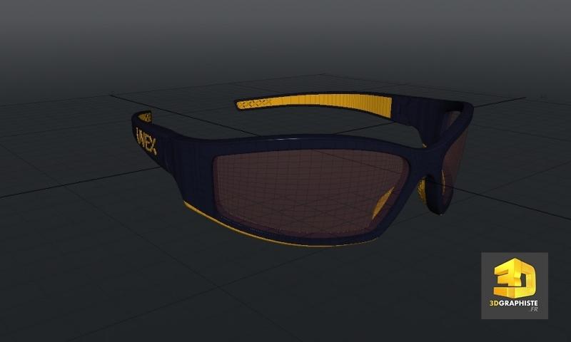 lunettes 3d modeling