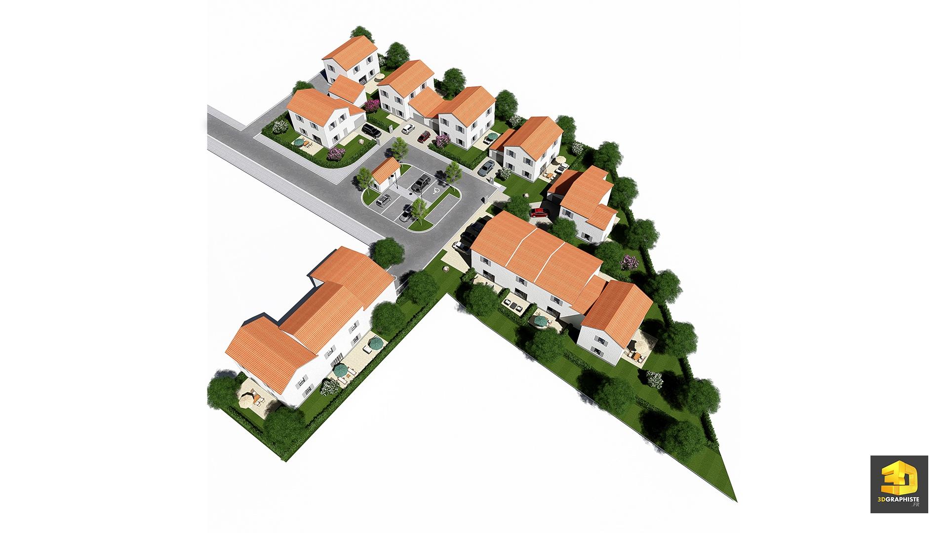 Mesolia plan de masse de lotissement sur le terrain réalisation dun projet de 9 lots o 8 lots comportant chacun une maison individuelle o 1 lot de 4
