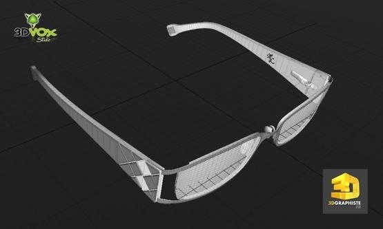 modeleur 3d lunettes