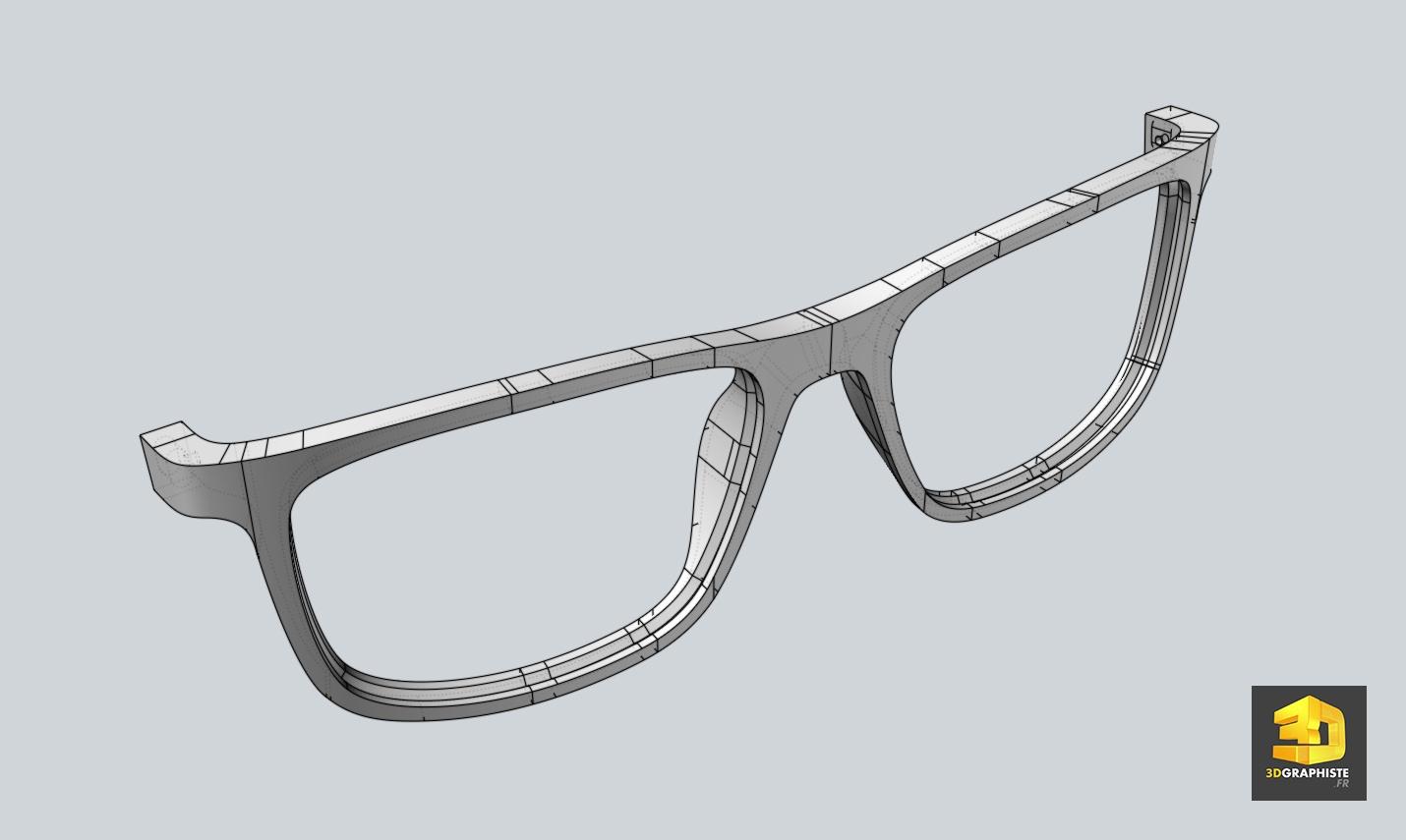 Mod lisation 3d de lunettes 3dgraphiste fr for 3d modelisation