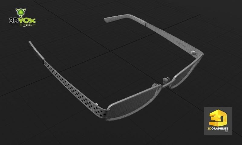 modelisation 3d de lunettes