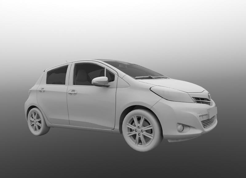modelisation 3d voiture automobiles Toyota Yaris