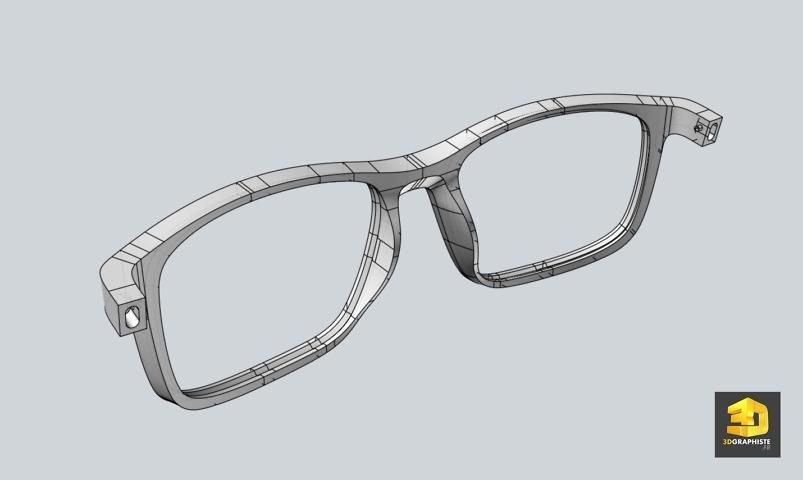 Modélisation CAO de lunettes pour l'impression 3D