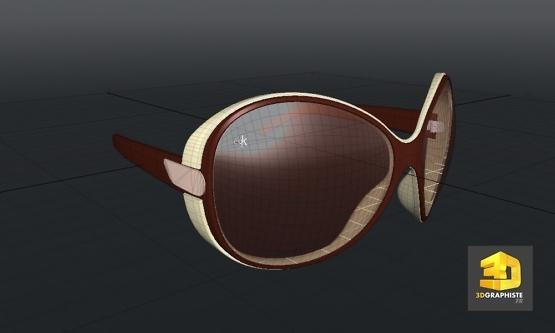 modelisation lunettes cao 3d