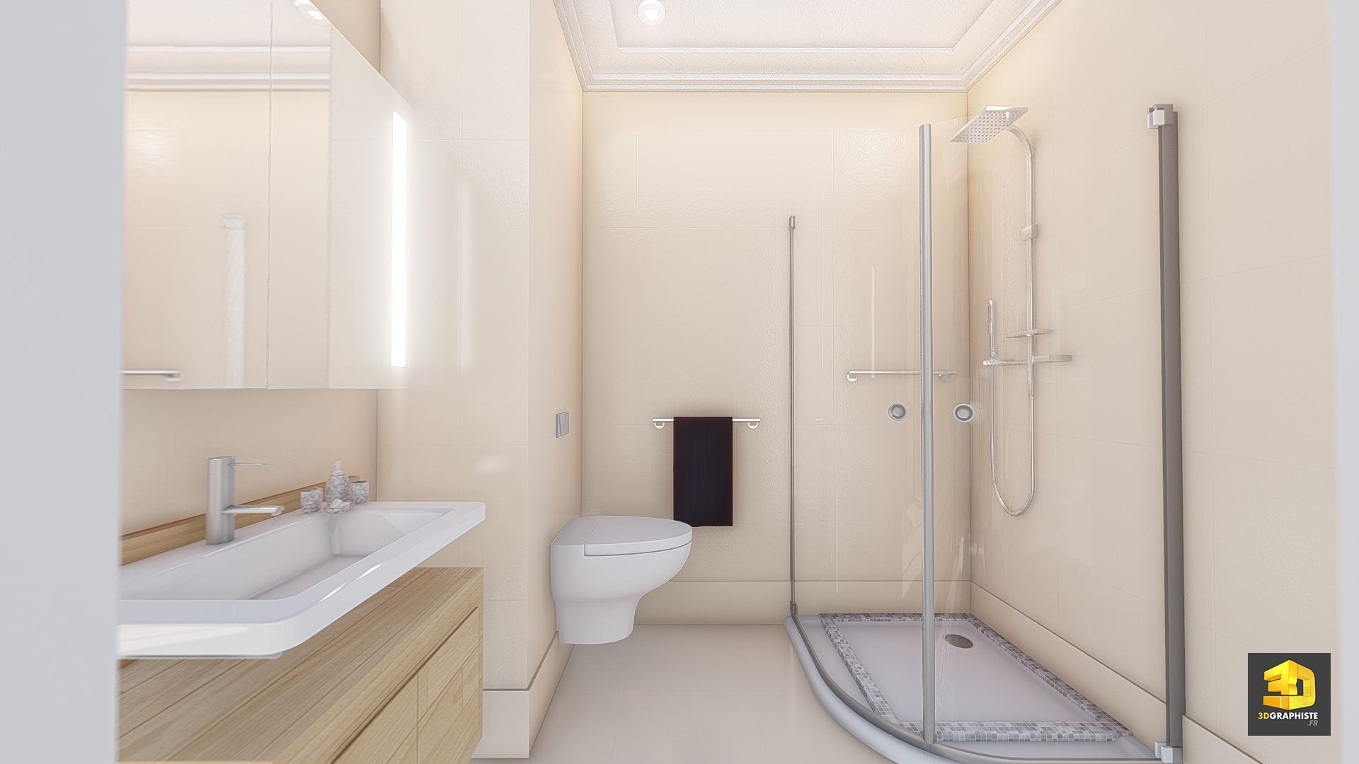 Illustrations 3d immobilier appartement palazzo val d for Salle bain 3d
