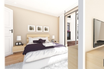 perspective 3d chambre - Palazzo