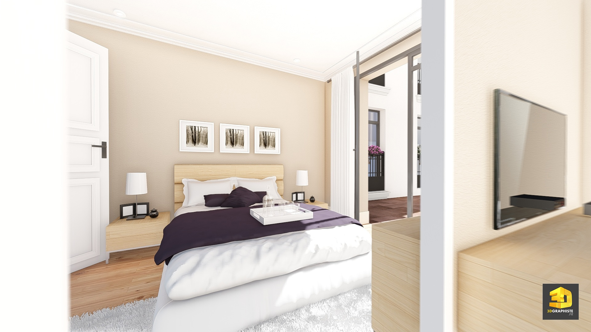 Illustrations 3D immobilier : Appartement Palazzo Val d ...