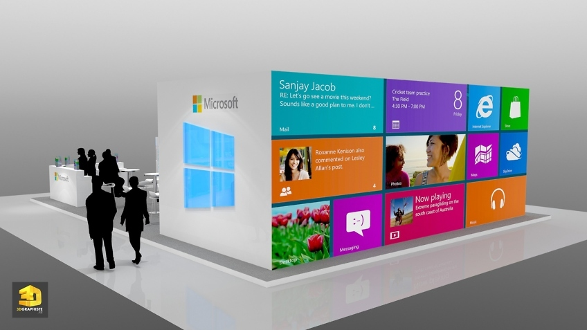 Perspective 3D stand Microsoft