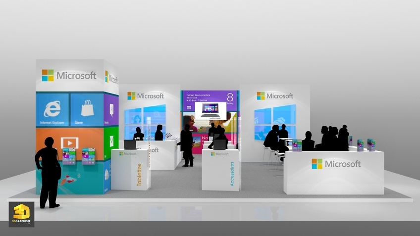 Rough perspective 3d stand Microsoft