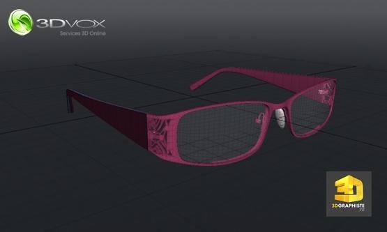 service de modelisation de lunettes en 3d