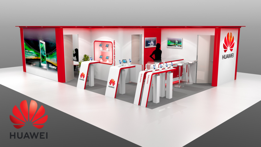 Stand Huawei pour salon professionnel