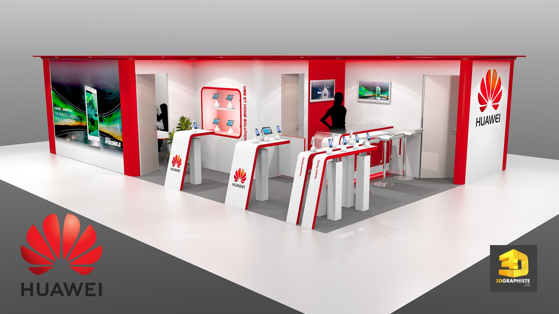stand huawei stand pour salon professionnel 3dgraphiste fr