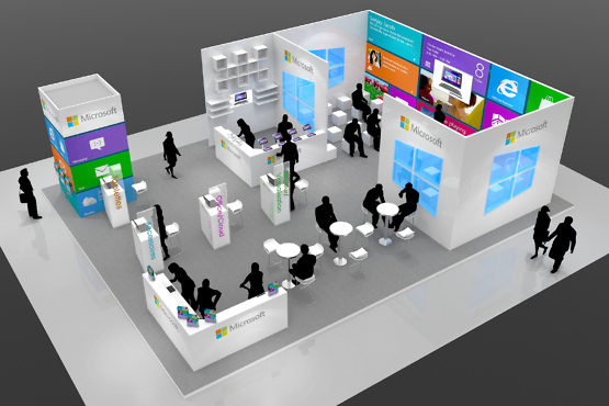 Stand Microsoft- stand pour salon