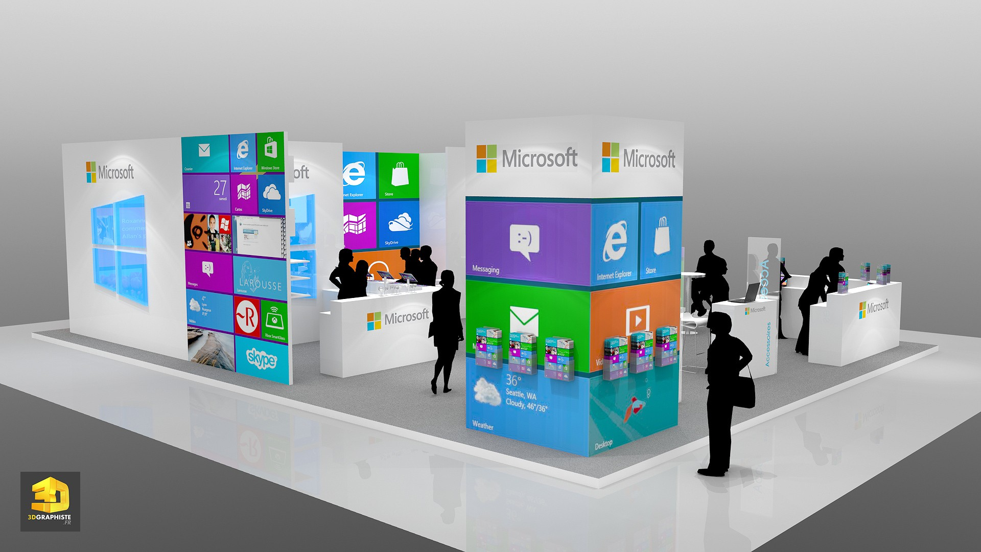 concepteur de stand stand microsoft