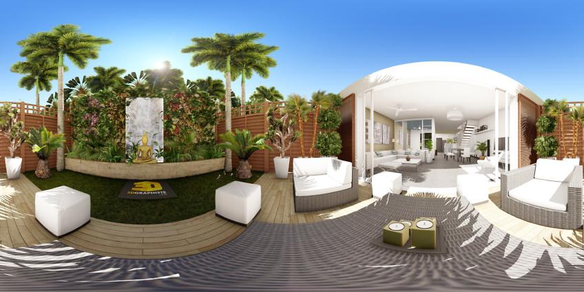 villa rocher vert - panorama vr - image 360 - VRView