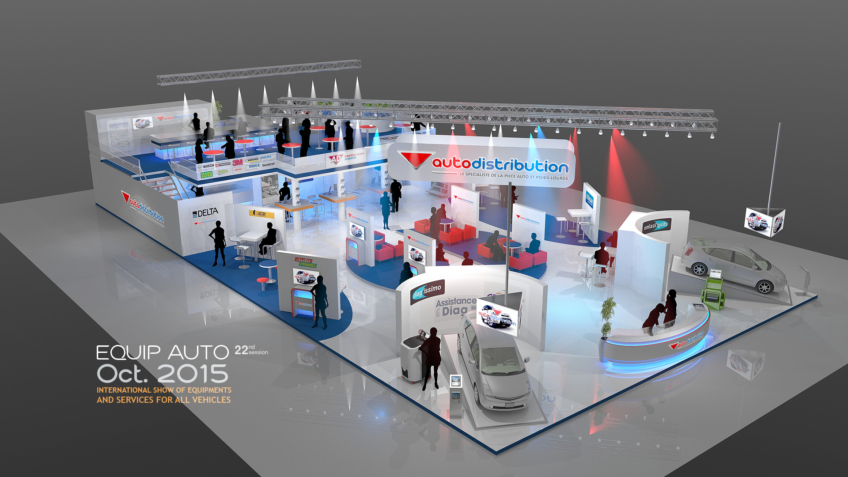 Stand AutoDistribution - Stand Publicitaire - Designer