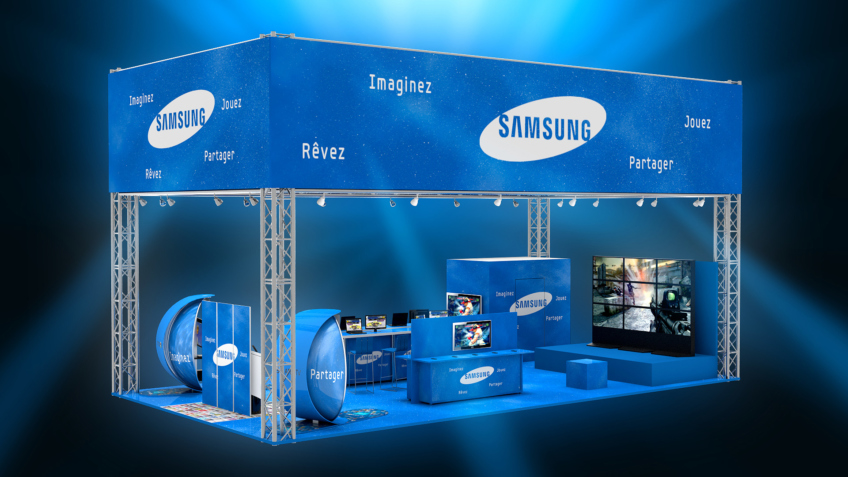 agencement de-stand samsung comic con paris