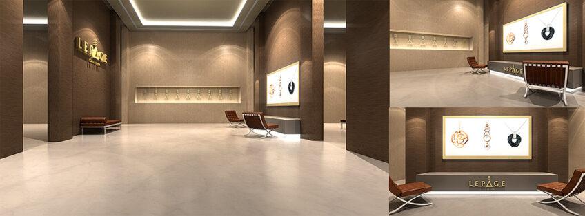 amenagement intérieur design bijoueterie lepage