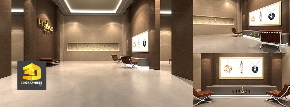 Am nagement int rieur design bijouterie lepage for Amenagement design interieur