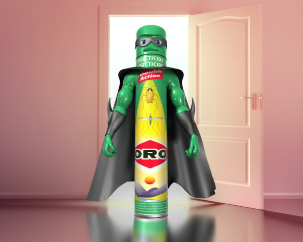 Animation 3D Pub TV ORO - Personnage Spray