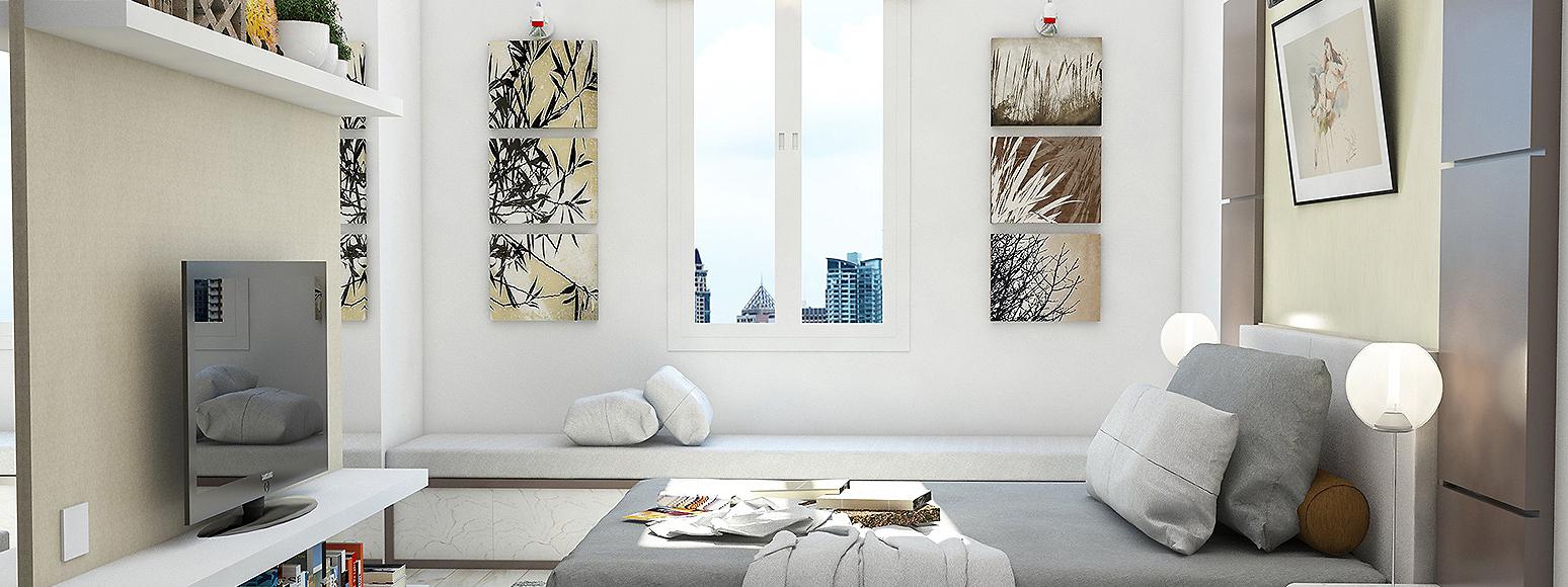 appartement Romainville perspective 3d intérieure de chambre
