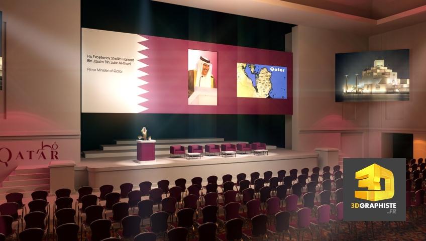 Concepteur 3D Freelance Rough événementiel - Qatar