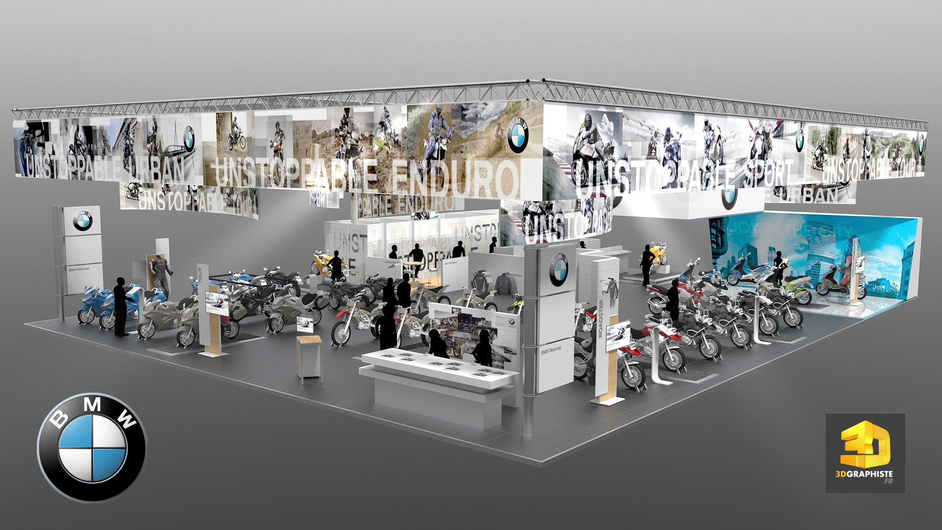 Stand bmw stand d 39 exposition showroom moto et scooter for Salon exposition