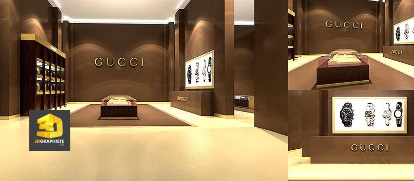 décoration intérieur magasin gucci