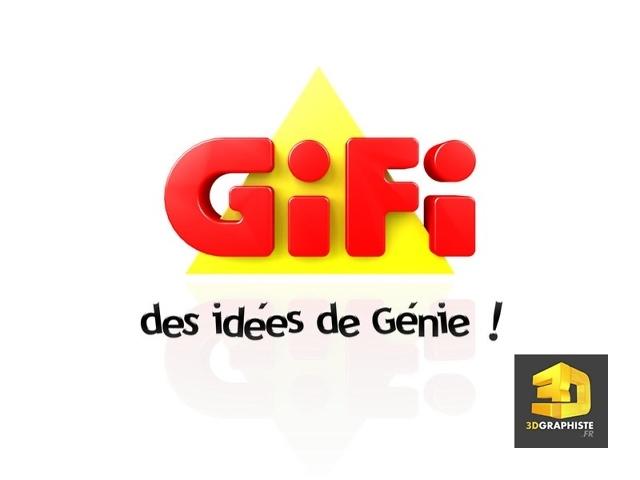 Logo Gifi en 3D