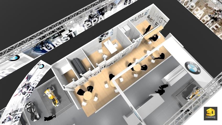 Designer Stand BMW - Graphiste Événementiel