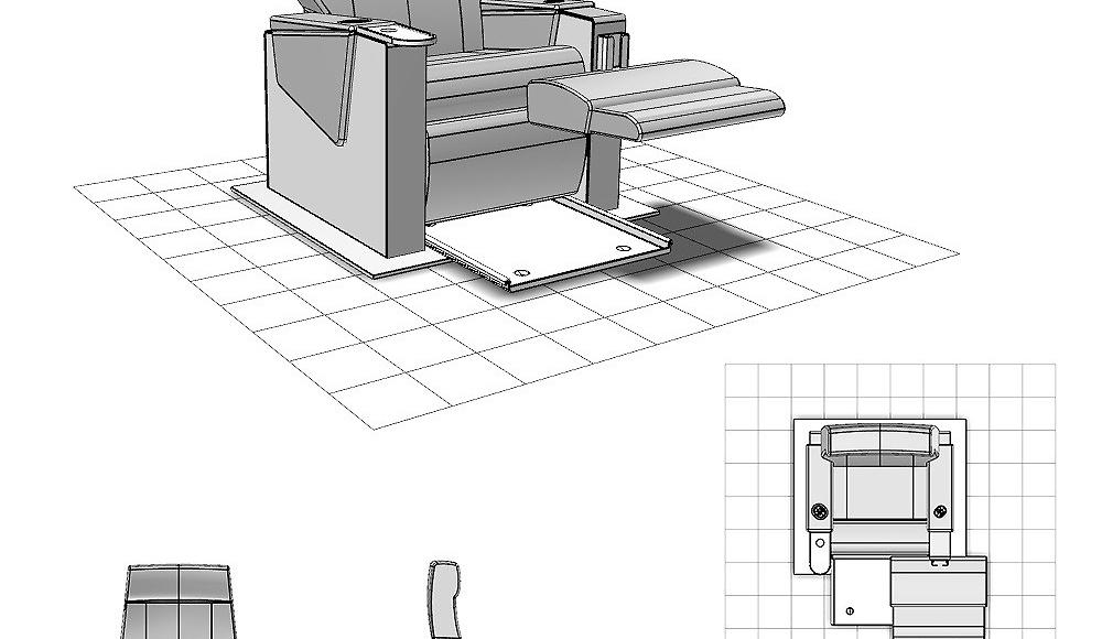 dessin industriel cao cad fauteuil