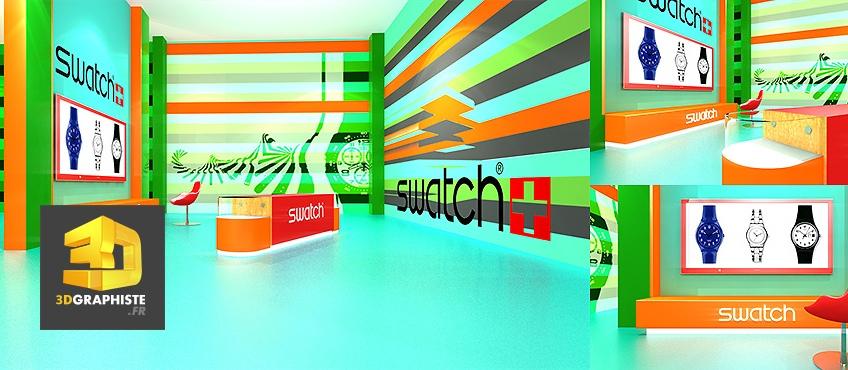 espaces de vente boutiques swatch