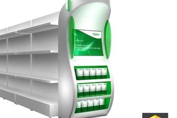 graphiste plv display rayon schneider electric