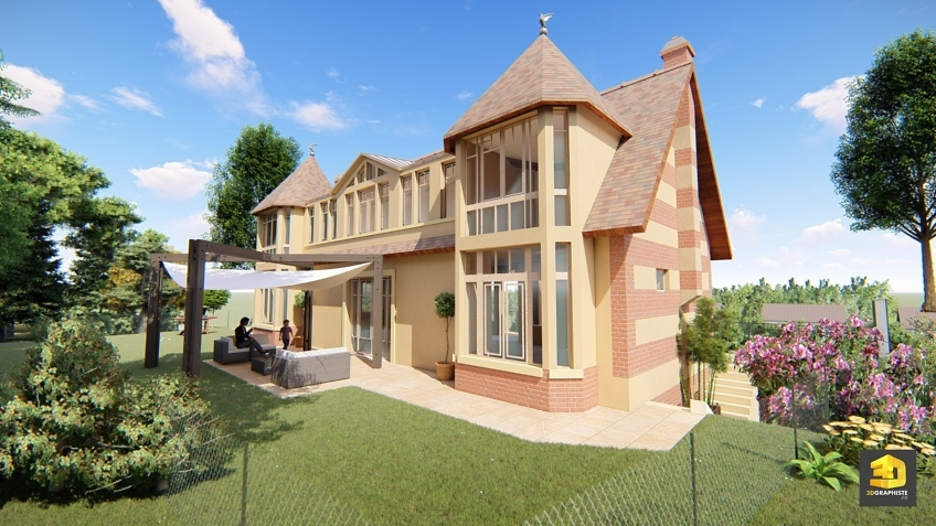 Illustration 3D pavillon