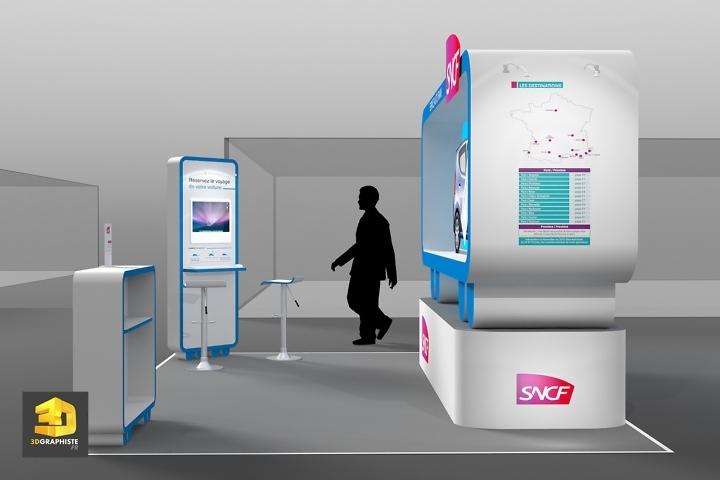 Illustration 3D Stand SNCF