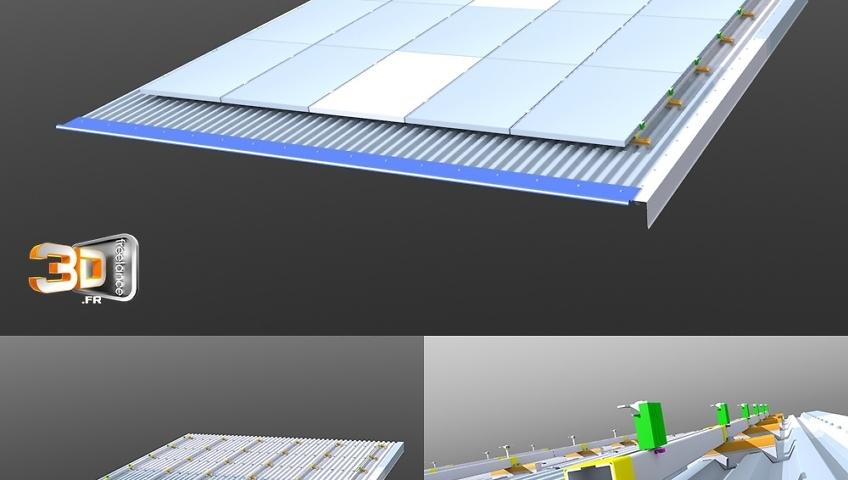 illustration technique toiture photovoltaique charpente
