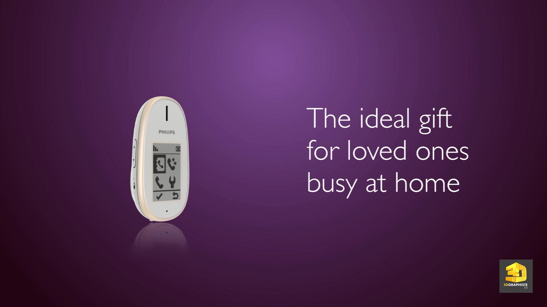 cr ation d 39 un film produit en 3d t l phone philips 3dgraphiste fr. Black Bedroom Furniture Sets. Home Design Ideas